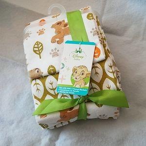 Disney Baby 4-Pk Baby Flannel Blankets